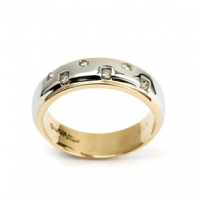 18YG Diamond Wedding Band 0.12TDW
